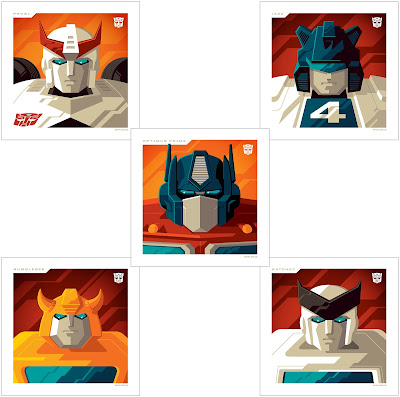 Transformers Autobots Mini Print Set by Tom Whalen x Acidfree Gallery