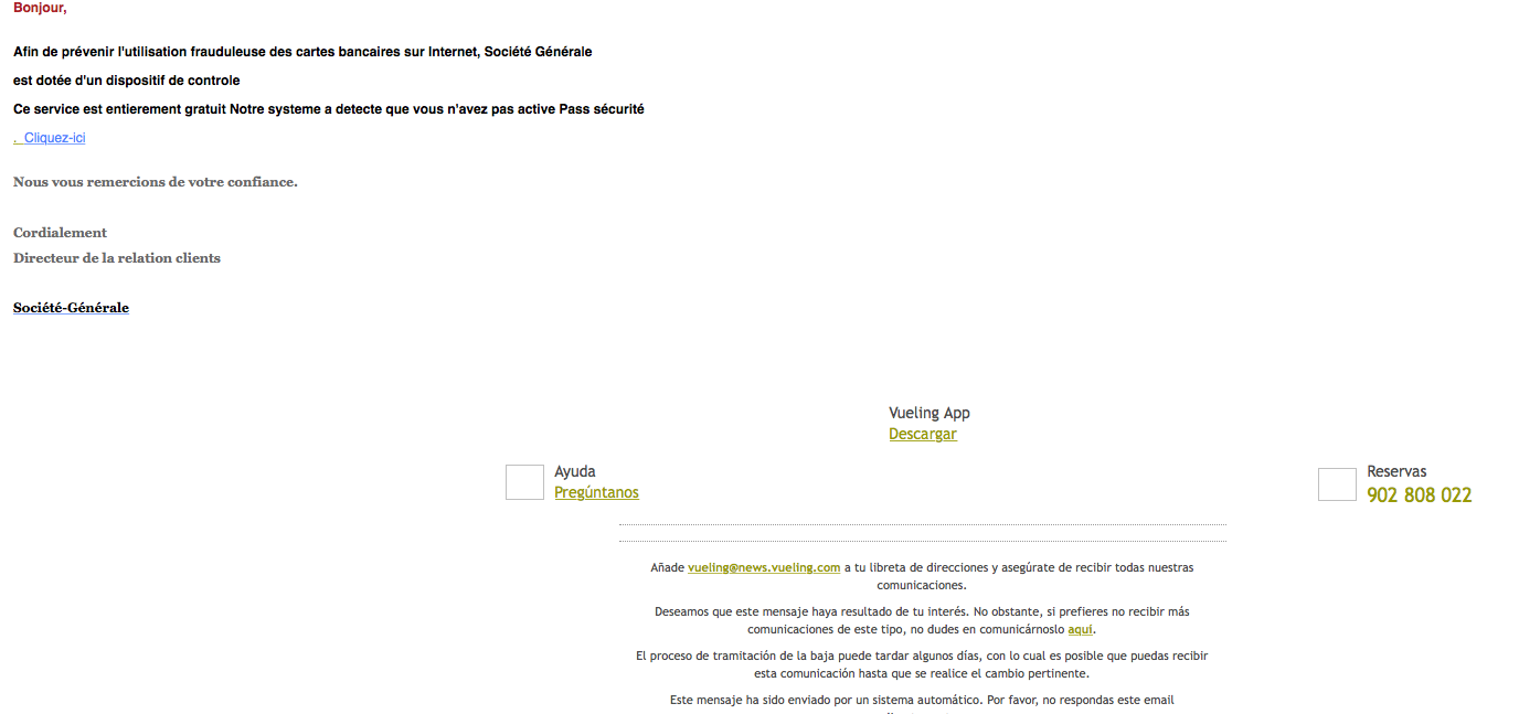 Carte Black Societe Generale.Notification Securite Phishing Societe Generale Scam
