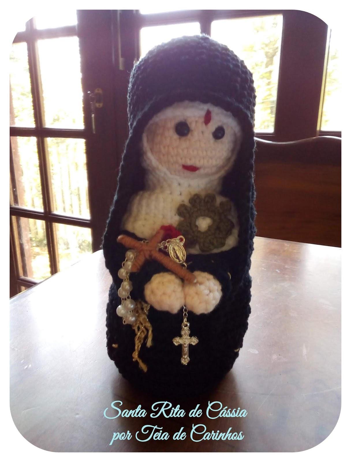 santa rita, santinha de crochê | Anjos de crochê, Bonecas de ... | 1600x1216