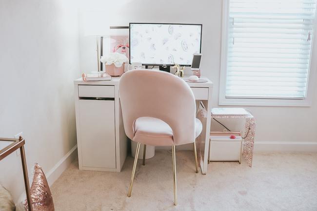 blush desk chair