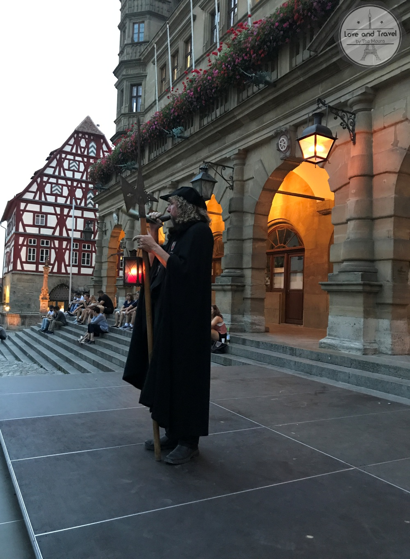 Rothenburg Ob Der Tauber, na Rota Romântica da Alemanha - Tour do vigia noturno