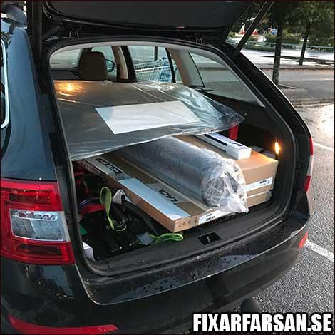IKEA LACK bord i kartong Skoda Octavia