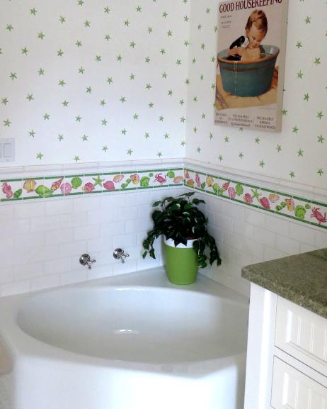coastal pastel bathroom