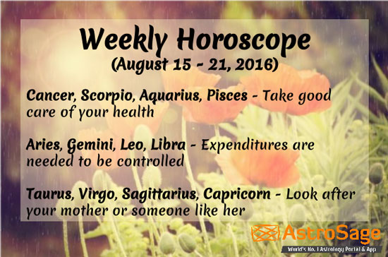 Know the future of your upcoming week with weekly horoscope.