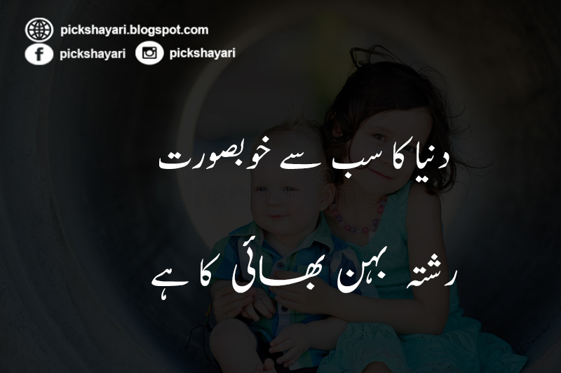 Sister And Brother Love Quotes In Urdu Pic Shayari