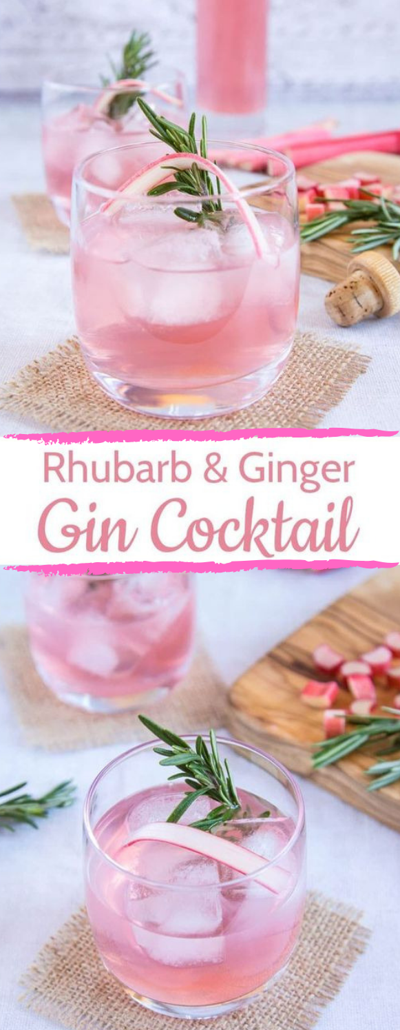 RHUBARB AND GINGER GIN RECIPE #drink #yummy