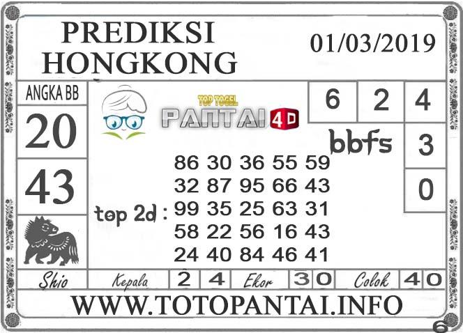 """Prediksi Togel """"HONGKONG"""" PANTAI4D 01 MARET 2019"""
