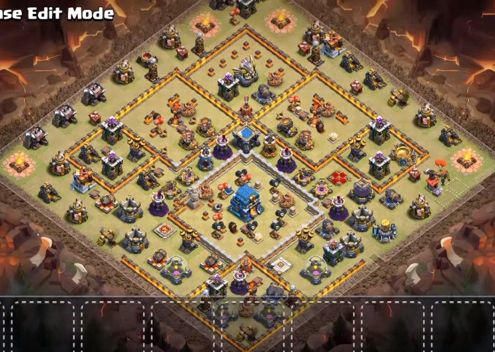 th12 cwl war base anti electro dragon