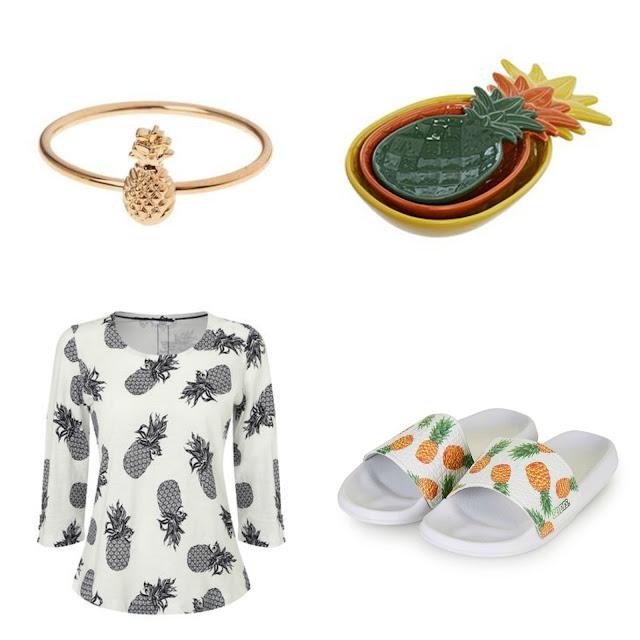 Pineapple ring, pineapple top, pineapple dish, pineapple ring