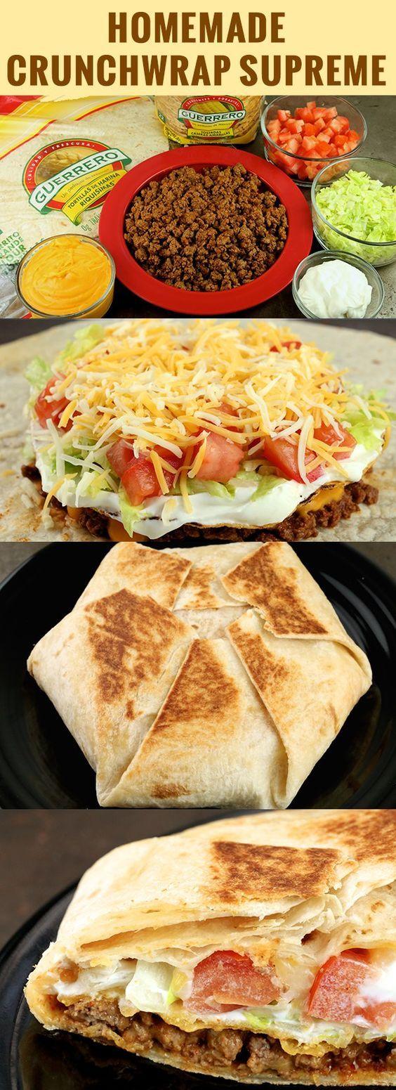 Homemade Crunchwrap Supreme #dinner
