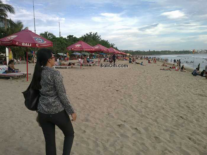 Walking in Kuta Beach Bali