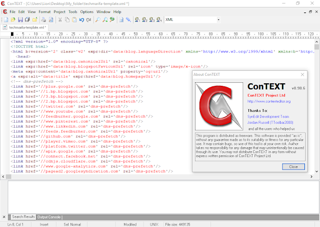 Download ConTEXT 0.98.6 for Windows