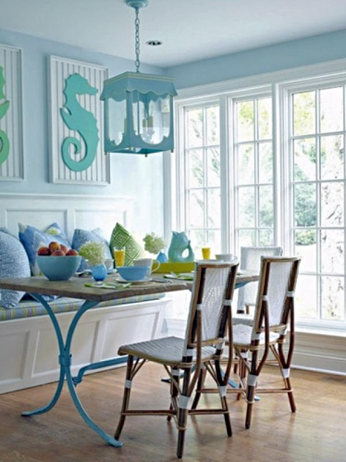 Coastal Beach Theme Designer Dining Room