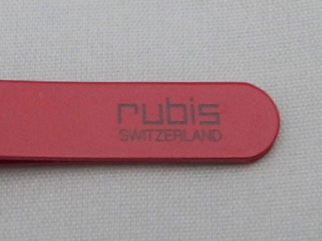 ルビスの毛抜き スタンダードに印刷されたロゴマーク