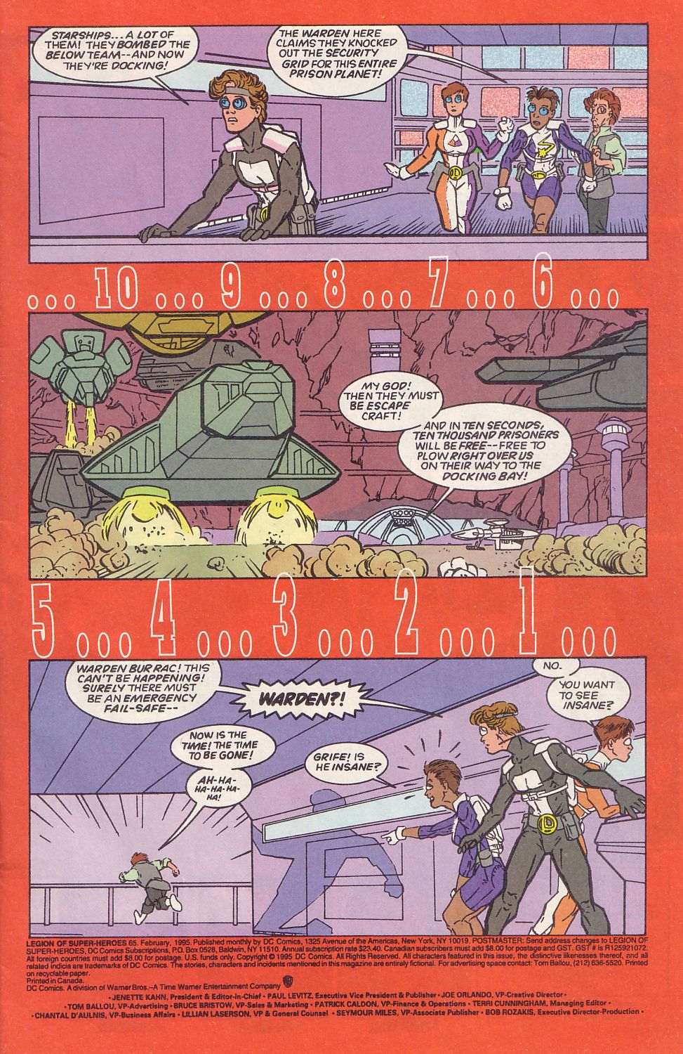 Legion of Super-Heroes (1989) 65 Page 1