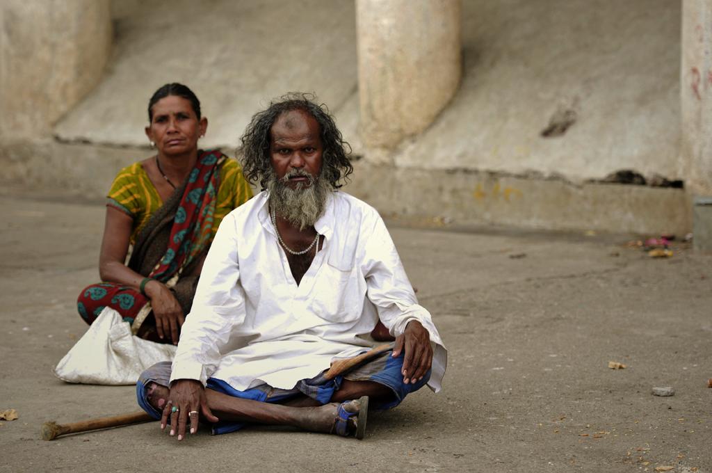 Dette er et slumbillede fra Nasik i Indien.