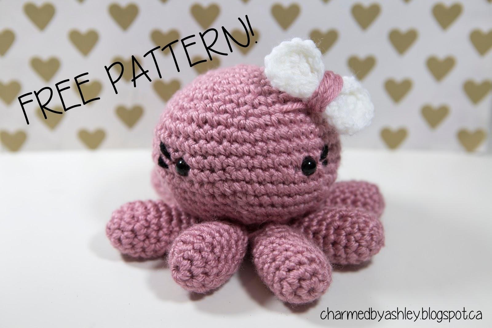 Crochet Octopus pattern - Charmed By Ashley