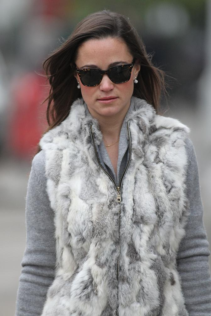Pippa Middleton seen out in London