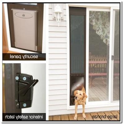 Patio Screen Door With Pet Entrance Small
