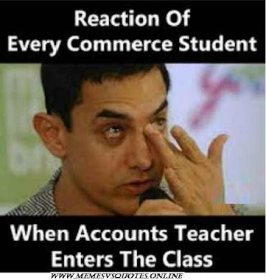 When accounts teacher enter in the class