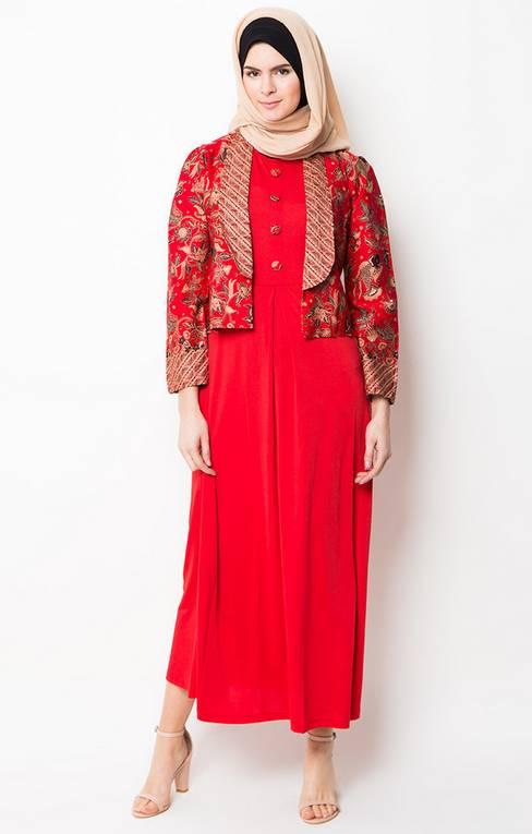 Contoh Model Baju Muslim Gamis Terbaru Untuk Hari Raya