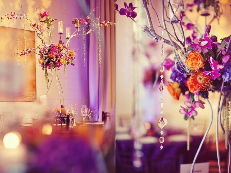 Get The Look Orange Purple Themed Wedding