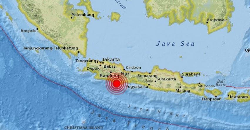 TERREMOTO EN INDONESIA: Sismo de magnitud 6.5 (Hoy Viernes 15 Diciembre 2017) Temblor EPICENTRO Yakarta - Isla Java - Tasikmalaya - USGS