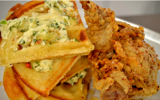 Marc Forgione's Quail and Waffles