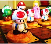 Homemade Mario Chess Set