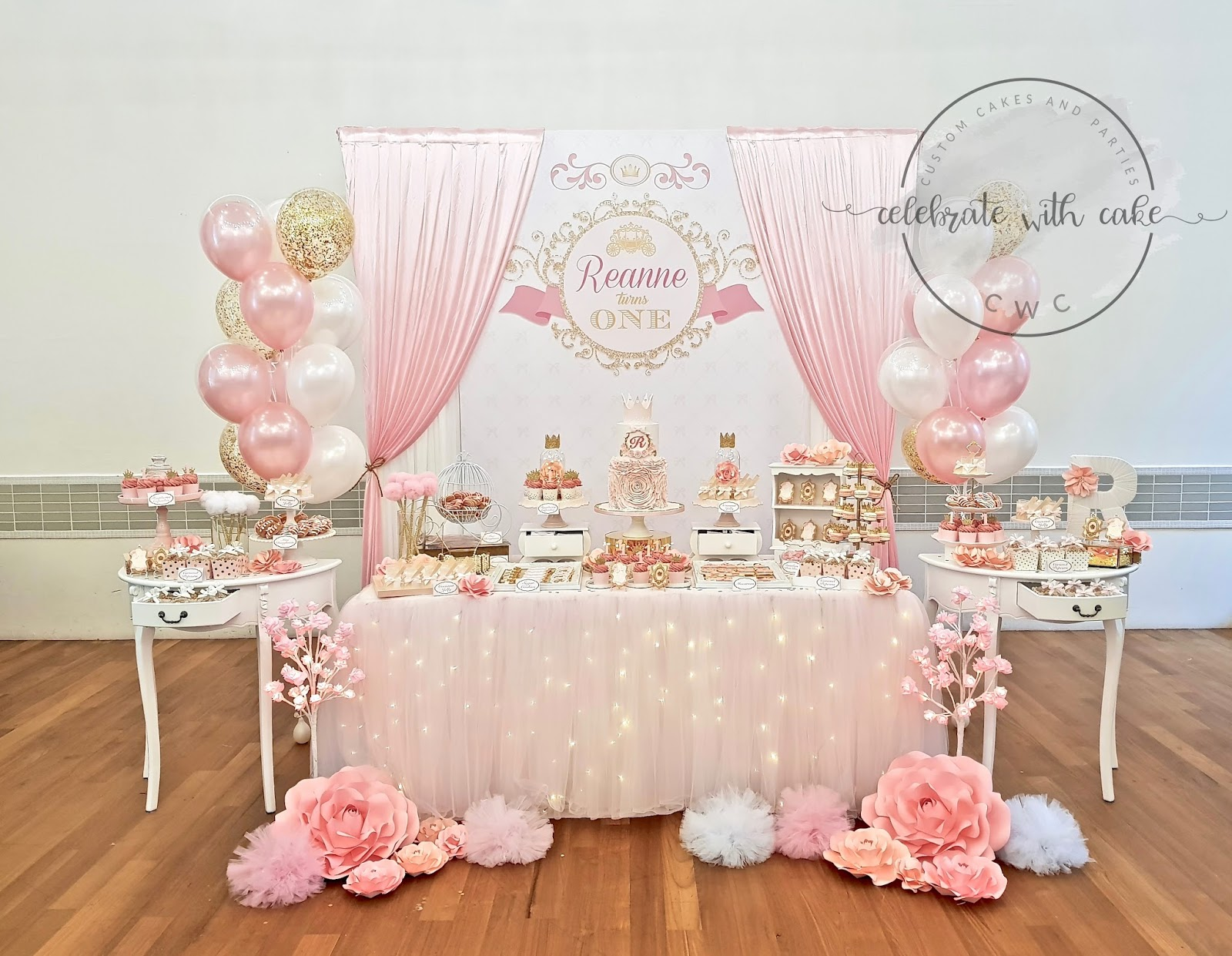 Outstanding Celebrate With Cake Elegant Princess 1St Birthday Please Click Personalised Birthday Cards Veneteletsinfo