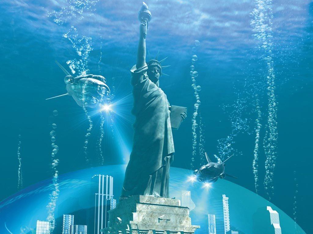 Free Dekstop Wallpaper 3d Art 3d Water World