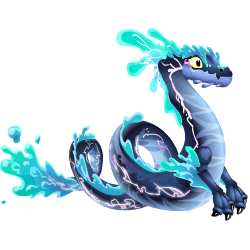 Appearance of Water Storm Dragon when teenager