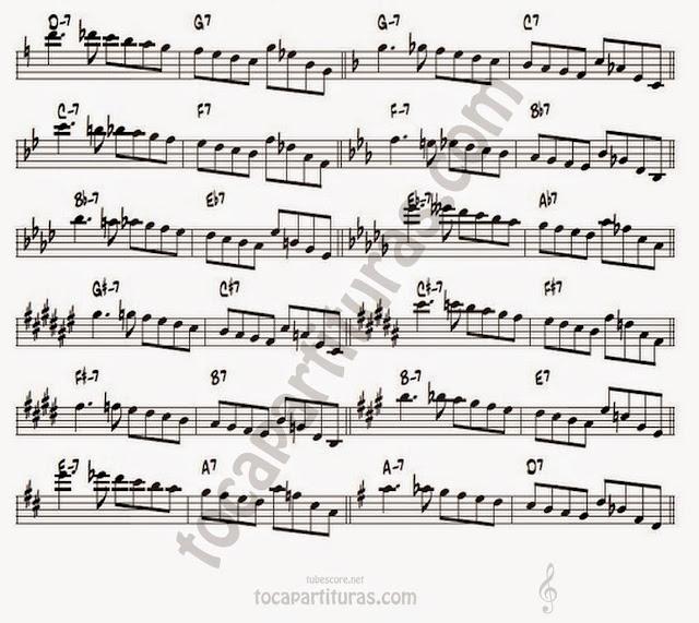 11A serie enorme de II-V-I transcriptas sobre solos de John Coltrane.serie enorme de II-V-I transcriptas sobre solos de John Coltrane