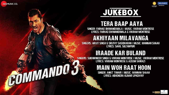 Main Woh Raat Hoon Lyrics - Commando 3 | Ankit Tiwari