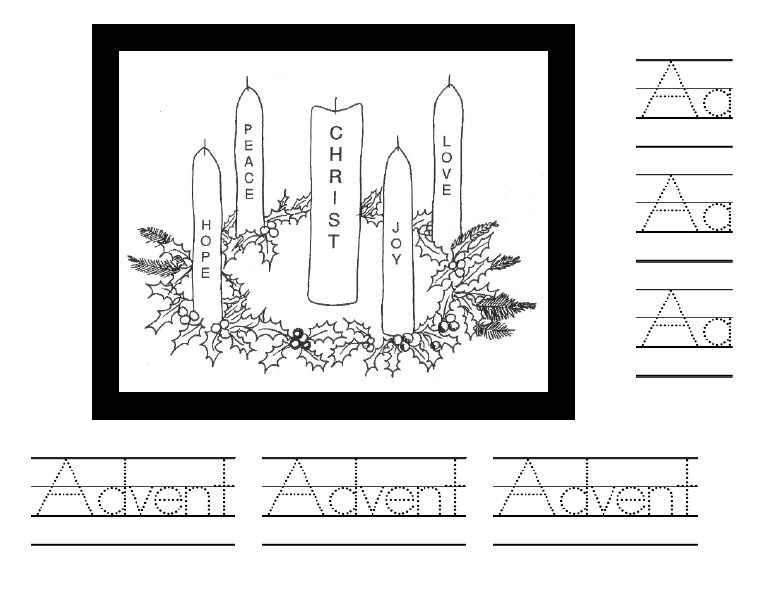 Advent Handwriting Sheet
