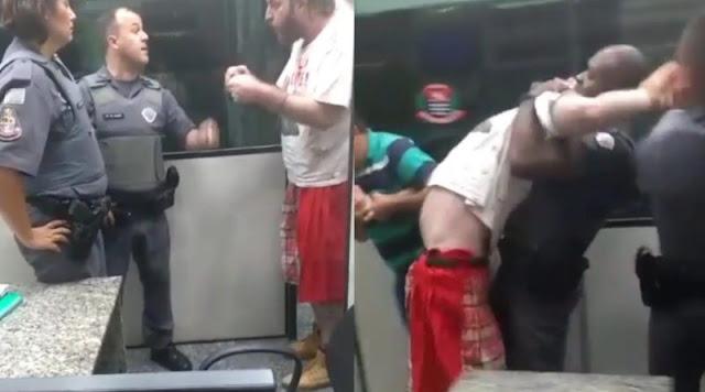 Vídeo mostra PM quebrando braço de dirigente do PT