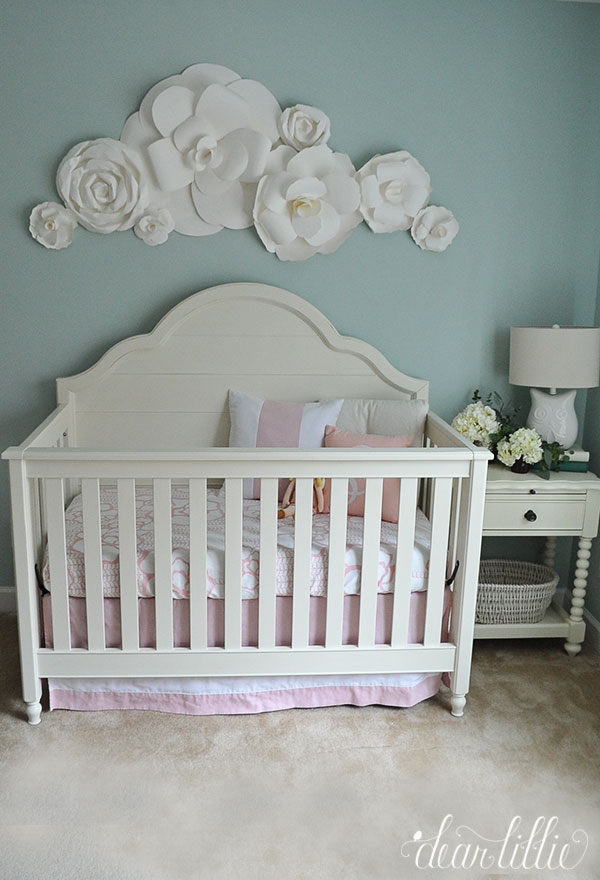 Dear Lillie A Soft And Sweet Nursery With Paper Flowers
