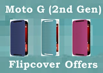 Moto G (2nd Gen) Original Flipcovers for just Rs.1000 Flipkart - 40% mega discount