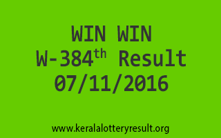WIN WIN W 384 Lottery Results 7-11-2016