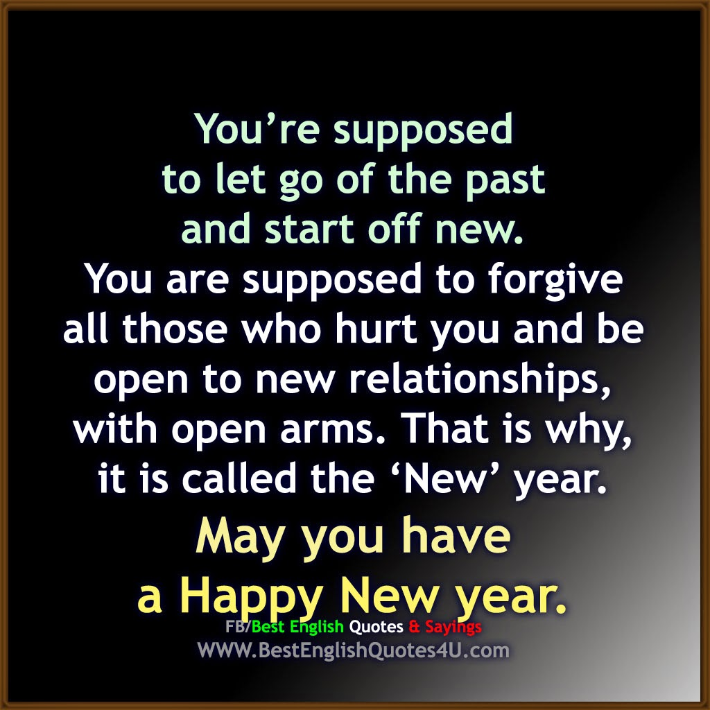 May you have a Happy New year. | Best English Quotes & Sayings