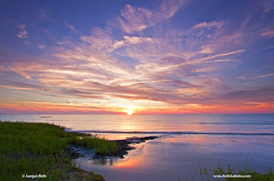 Cape Cod Bay sunset photo from Skaket Beach