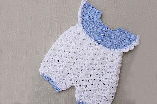 Pelele o enterizo a crochet muy sencillo y lindo para bebé. Paso a paso.
