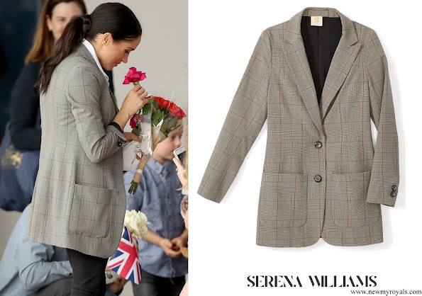 Meghan Markle wore Serena Williams Collection Boss Oversized Blazer