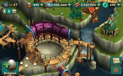 لعبة Dragons Rise of Berk مهكرة للأندرويد، لعبة Dragons Rise of Berk كاملة للأندرويد
