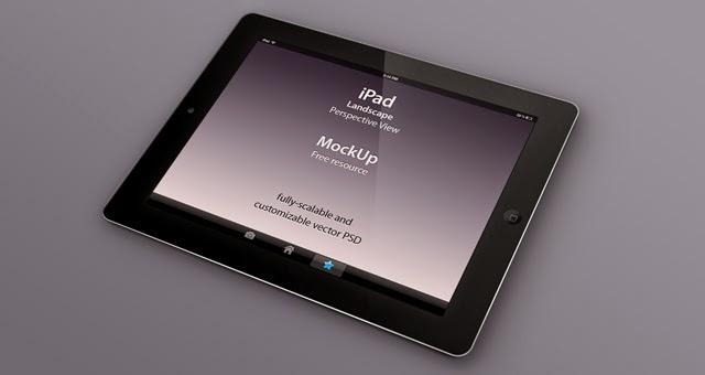 Perspective iPad MockUp PSD