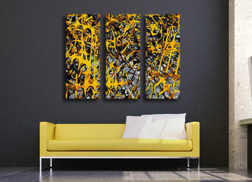abstract, yellow, urban art, digital painting, urban photography, urban photo, contemporary wall art, canvas art, canvas print, modern, large art,