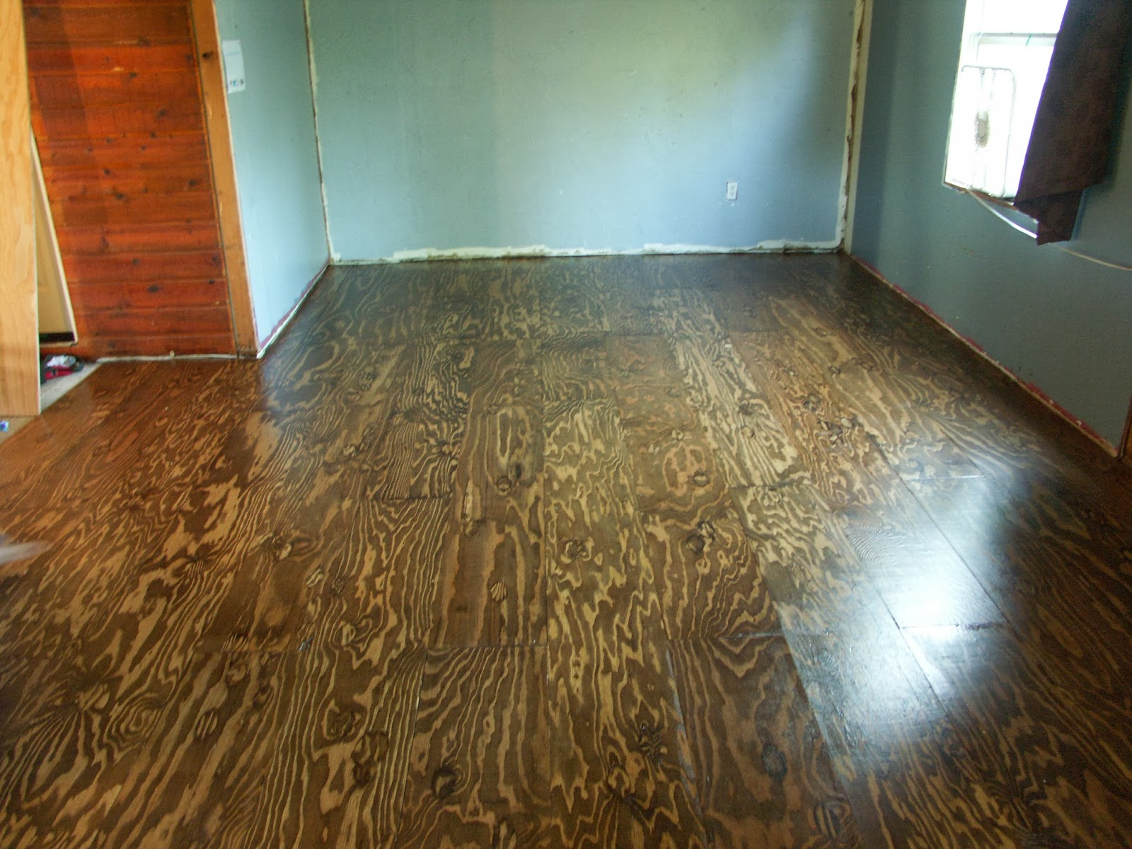 Our Irish Manor Gorgeous Plywood Floors