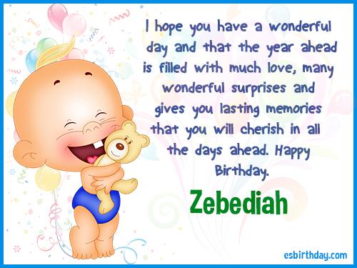 Zebediah Happy birthday
