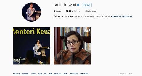 Inilah Akun Facebook dan Instagram Resmi Menkeu Sri Mulyani Indrawati