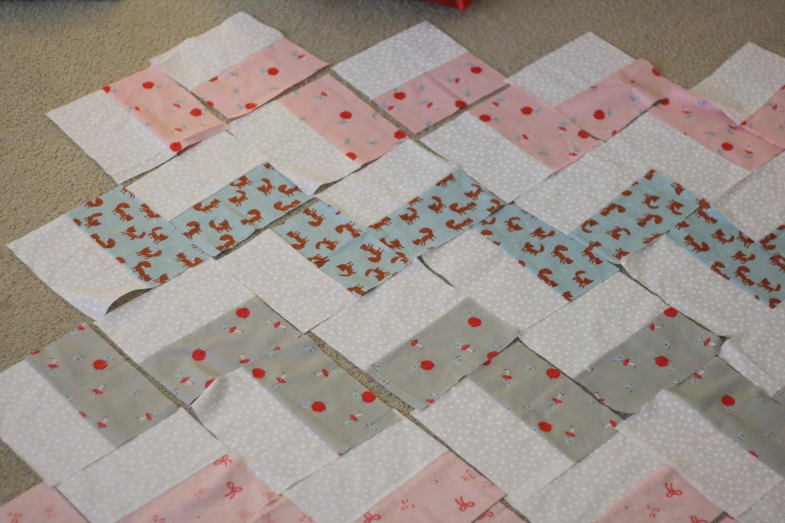 Crafting Zuzzy Chevron Baby Quilt Week Four